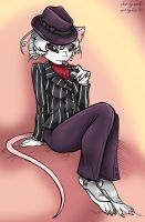 Mouse in Pin Stripes by KaeMantis