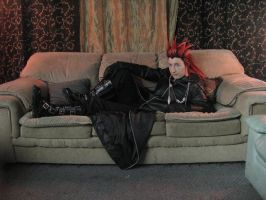 Lounging Axel by aoifasd