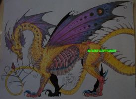 Old Yellow Butterfly Dragon by SizzyBubbles