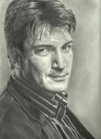 Nathan Fillion by johndibiase
