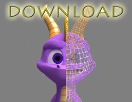 Spyro 3D Model Download by Morganicism