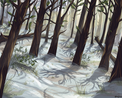 winter forest by TheRoguez