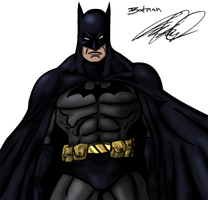 Batman Sketch Color by Wessel