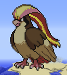 Minecraft Pixel Art: Pidgeot Pokemon by GateMasterGreen