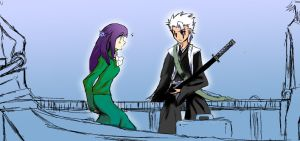 Hitsugaya and Hinata A Meeting by spoiledmaniac
