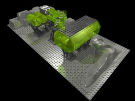 Lego Space MOC: Blacktron Fuel Depot (hi-res) by Kantorock