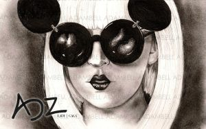 Gaga's Minnie Mouse Style by adzbell