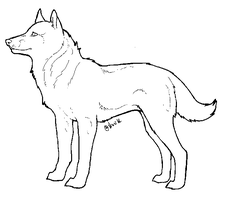 Dog lineart by Nuuuk