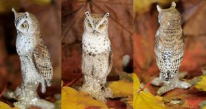 Great horned owl, silver by Heliocyan