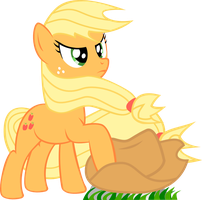 Windswept Applejack by Anthpony
