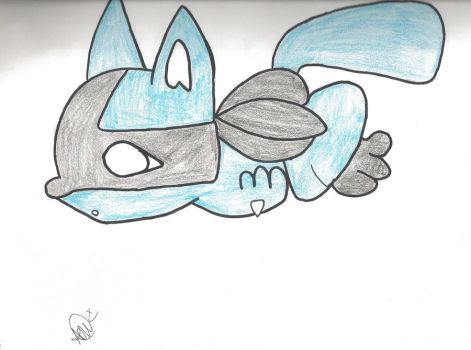 Riolu drawing :3 by SoulEatingPuppet