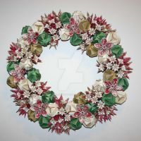 Origami wreath by afriendoffantasy