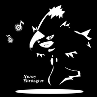 Mismagius of silhouette by x0alain