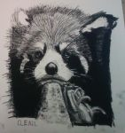 Chained Panda by Cleril