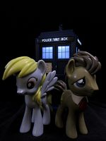 Doctor Whooves and His Faithful Companion by Police-Box-Traveler