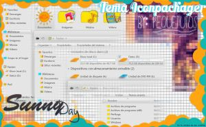 SunnyDay for Iconpackager ~ by:PequeTutos by LePettit