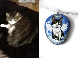 Harry - Custom Cat Pendant Necklace by sobeyondthis