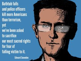 Edward Snowden by DVLArt