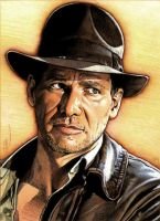 Old Indiana Jones portrait by PENICKart