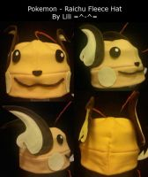 Raichu Fleece Hat XD by LiliNeko