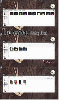 Tema Iconpackager History Black by TutosPixi