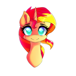 Sunset Shimmer Bust by PonyBytes