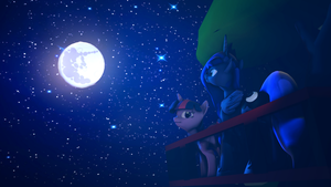Luna and moon. by Turbovilka