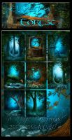 Elven Forest backgrounds by moonchild-ljilja