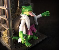 Lizard Chilling in the Sewer by luke314pi