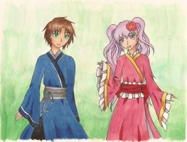 07-GHOST  Japanese Teito and Ouka by Rhea-LOCKWING