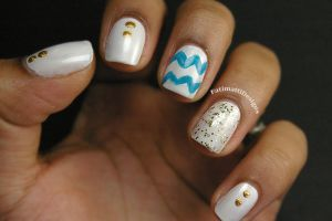 Blue Chevron by FatimattiDesigns