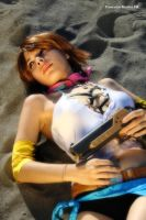 Yuna cosplay rest after the research of the sphere by ange-lady-yunashe