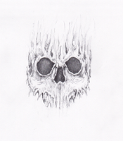 Mini skull sketch by Cammo7495
