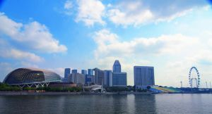 Skyline of Singapore by kate-art