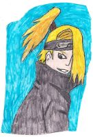 Deidara -colored and inked- by orik302