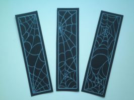 Spiderweb Bookmarks by Fallen-from-stars