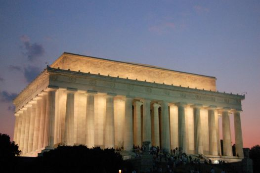 Lincoln Memorial at Sunset by Metzae