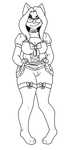 [WIP] Commission - Fray in a maid dress (lineart) by liano4ka