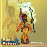 Magic Meisters: Spirit Mage Class Concept by PolyMune