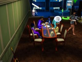 Sims 3 - Beauregarde Girls and I sat down to eat by Magic-Kristina-KW