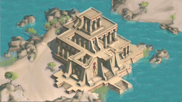 Temple at the Nile - Paintover by CentificGrafics