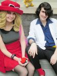 female trainer Serena and professor sycamore by neoangelwink