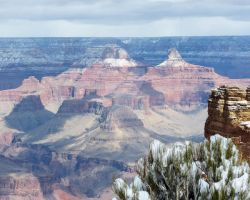 Snow at the Grand Canyon by LaurelPhotoandCraft