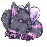 Redrumwolf Badge Commission by JustRach