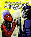 The Amazing Spider Punk by LetalThrasher