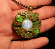 ForestMoon - hancrafted Pendant by Ganjamira