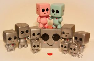 HeartBot Family at Etsy.com by maskedrabbitcrafts