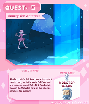 Quest 5: Through the Waterfall! by Deer-Head