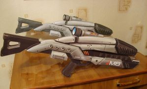 M8 assault rifles from the game Mass Effect by fiaformulaone