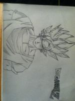 Goku SSJ1 Fan Drawing by ArturiaofCamelot